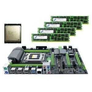 X79 материнская плата LGA2011 комбо с E5 2620 CPU 4-канальный 16 Гб (4x4гб) DDR3 RAM 1333Mhz NVME M.2 SSD слот