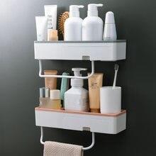 Полки для ванной полки душа настенная стойка шампуня с полотенцем