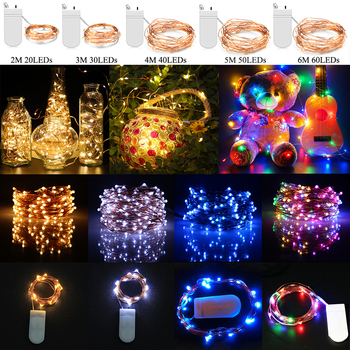 LED String Lights Fairy Micro Lights Battery Powered Copper Wire Waterproof Lights for Holiday Party Wedding Decoration D30 2pcs led string lights 3 metre 30 leds starry copper wire fairy string lights for holiday party wedding christams decoration