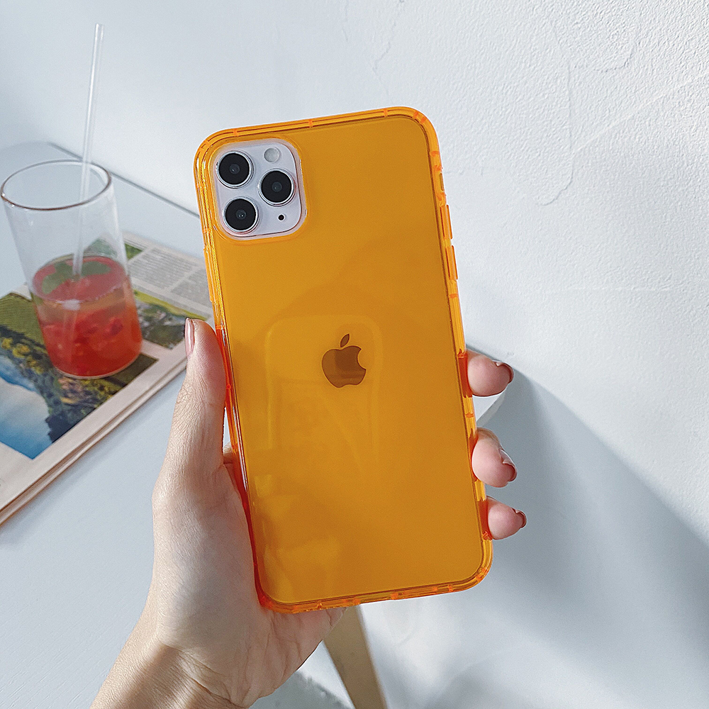 IPhone 8 üçün yumşaq şirniyyat qabı SE 2020 X2 XR Xs Max iPhone 11 Pro Anti Knock Silikon Transparent Case iPhone 8 7 Plus