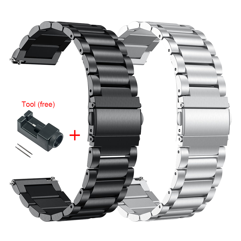 18MM 20MM 22MM Stainless Metal Wrist Strap For Garmin Vivoactive4s 4s Smart Watch Band Milanese Straps For Vivoactive 3 4 Correa