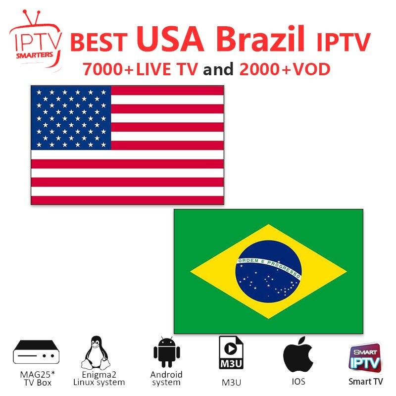 Iptv Subscription Brazil IPTV M3U IPTV 7000+Live HD Channels For M3u Mag Box Smart Tv USA Iptv  M3U Code Sports Adults Free Test