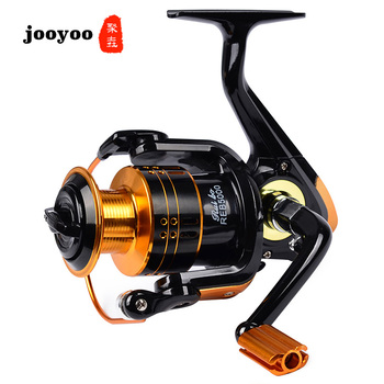 Metal Spool Spinning 1000 2000 3000 Series 5.2:1 Fishing Reel 12BB Wheel Gear Ratio Knob Handle Right Left Hand Changeable