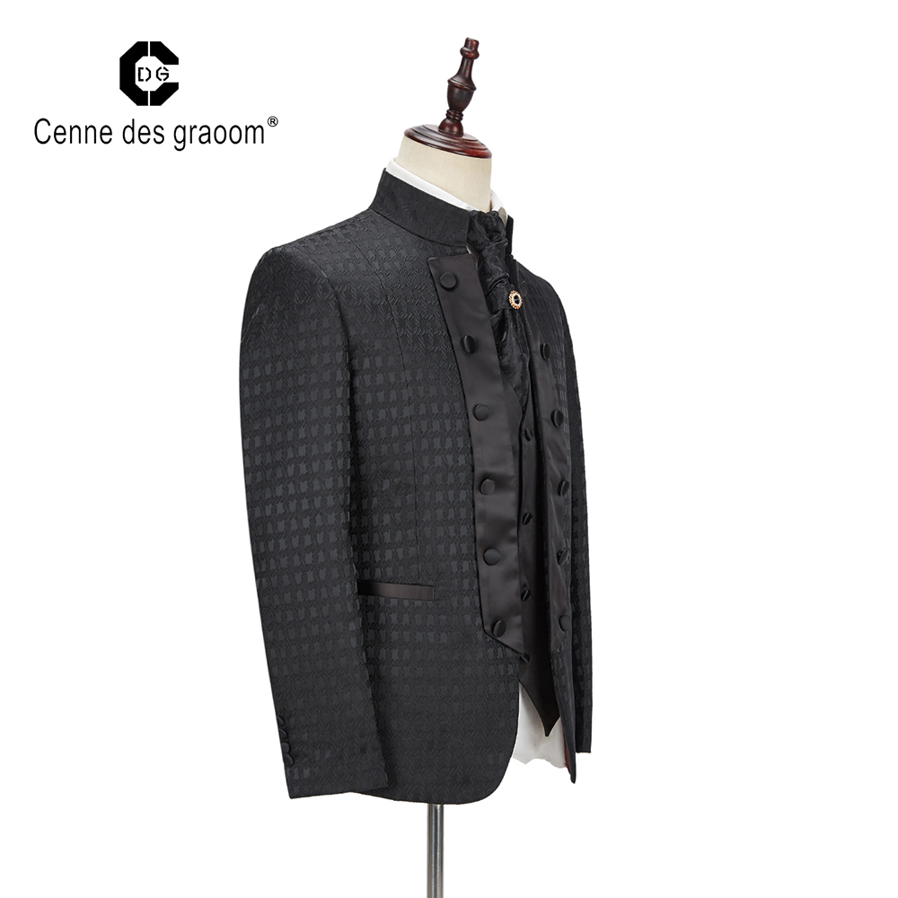celebration : Mens Herringbone Suits 3 Piece Groom Wool Wedding Formal Tuxedo Business Tailormade Tuxedos Blazer  amp  Pants  amp  Vest For Wedding