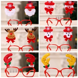 1PC Creative Christmas Items Party Glasses Frame Decoration Christmas Articles New Year Xmas Decoration Glasses Gift for Kids 2