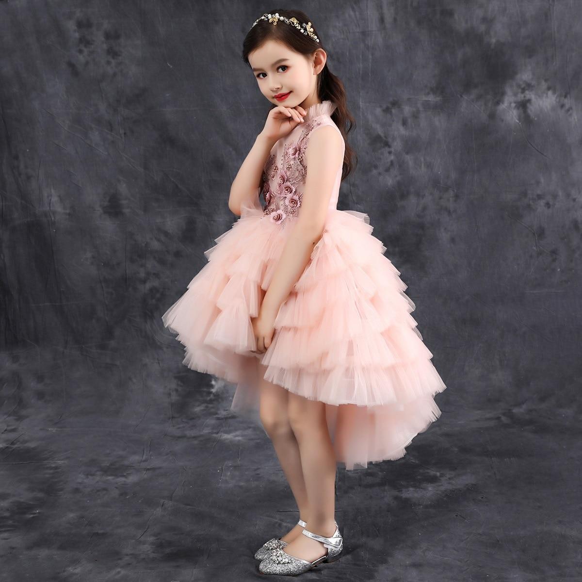 Big Boy CHILDREN'S Dress 2019 New Style Summer Catwalks Performance Formal Dress Flower Boys/Flower Girls Puffy Mesh Dress Girls