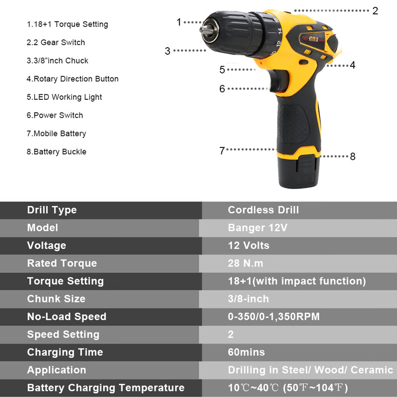 12V Mini Drill Electric Hand Drill Battery Cordless Hammer Drill Electric Screwdriver Rechargeable Lithium Power Tools Pakistan
