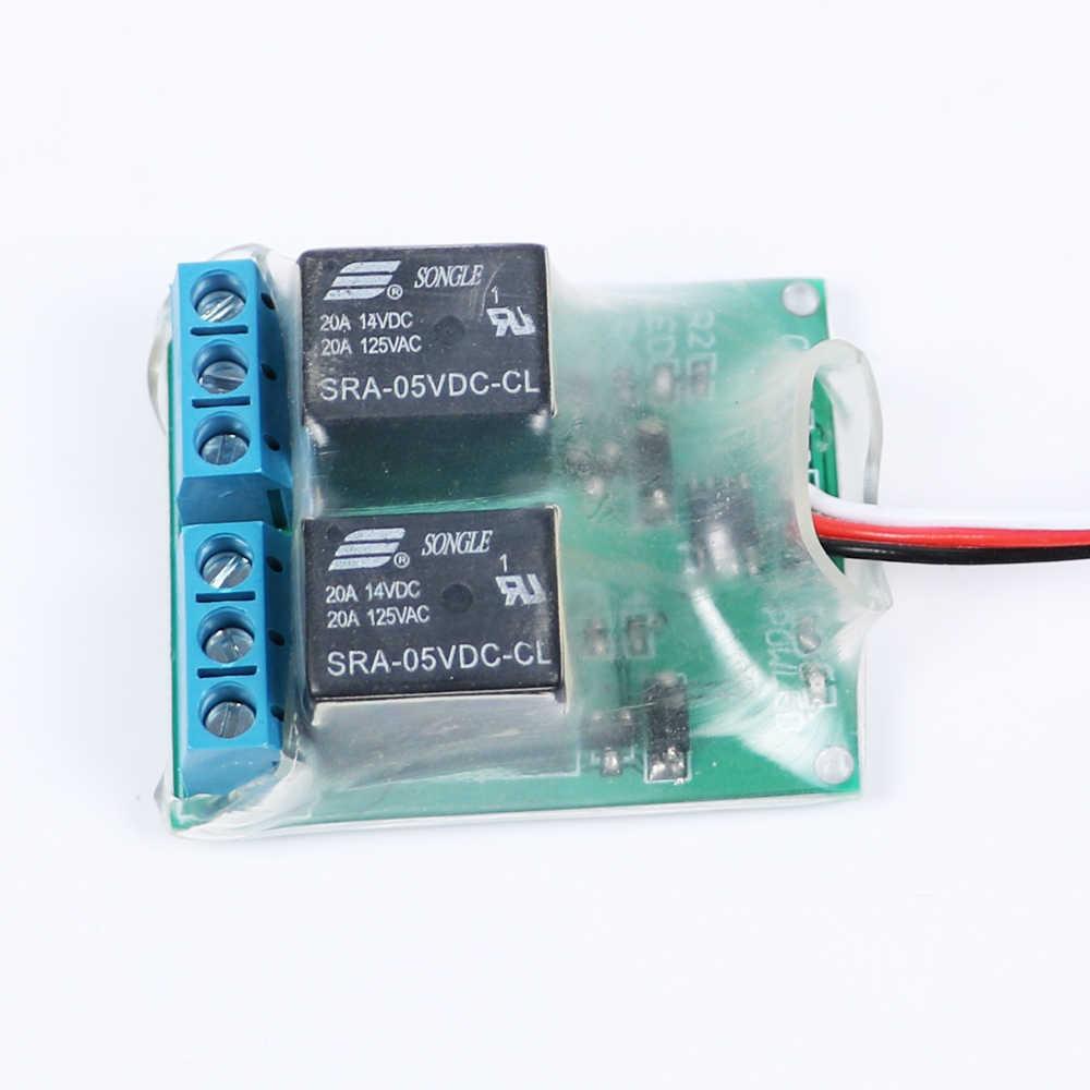 Dual Relais Schalter K2 Universelle Elektronische PWM Empfänger Kamera Navigation Licht Controller Modul 40A f RC Flugzeug Drone