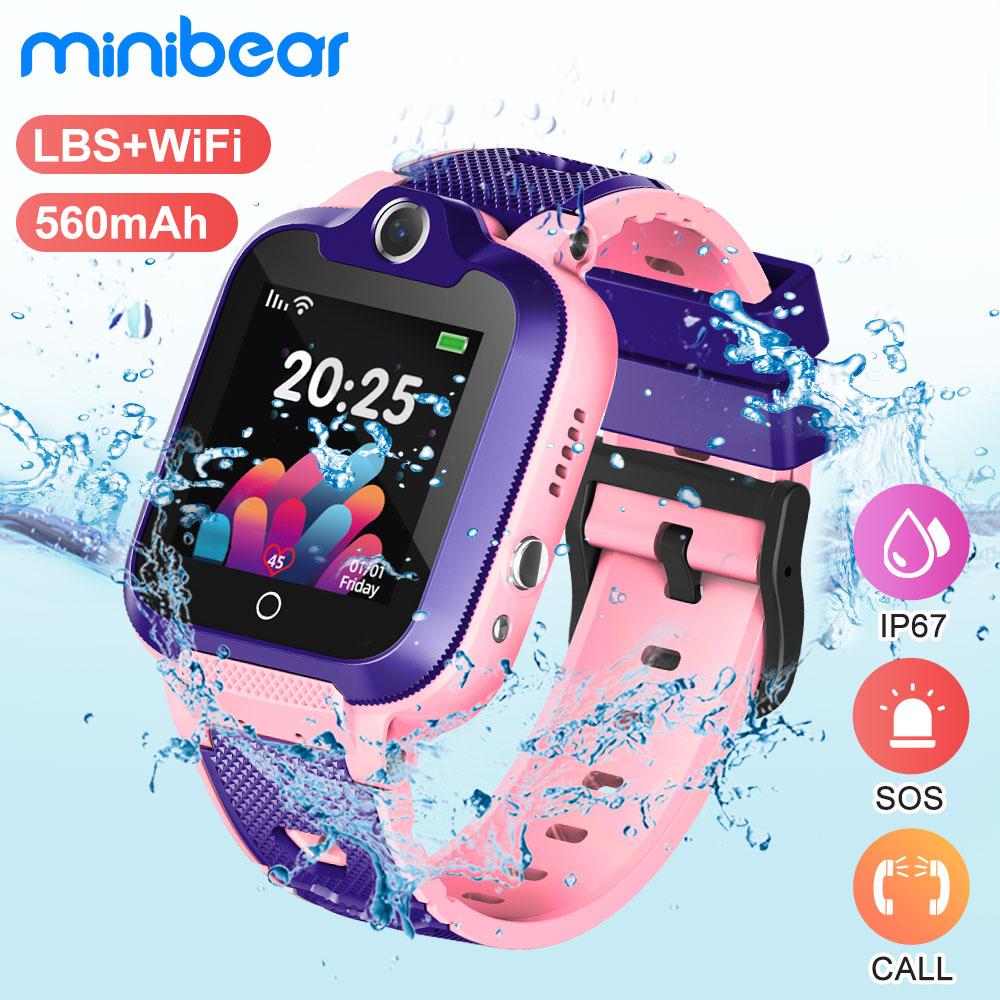 Minibear Kids Smart Watch IP67 Waterproof Smart Watch For Children Phone Watch 2G SIM Card SOS Watch Birthday Gift For Girl Boys