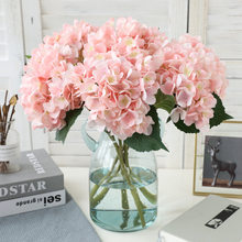Branche d'hortensia artificielle en soie, fausse fleur pour mariage de mariée, bricolage de fête de famille, décoration florale d'anniversaire de saint-valentin