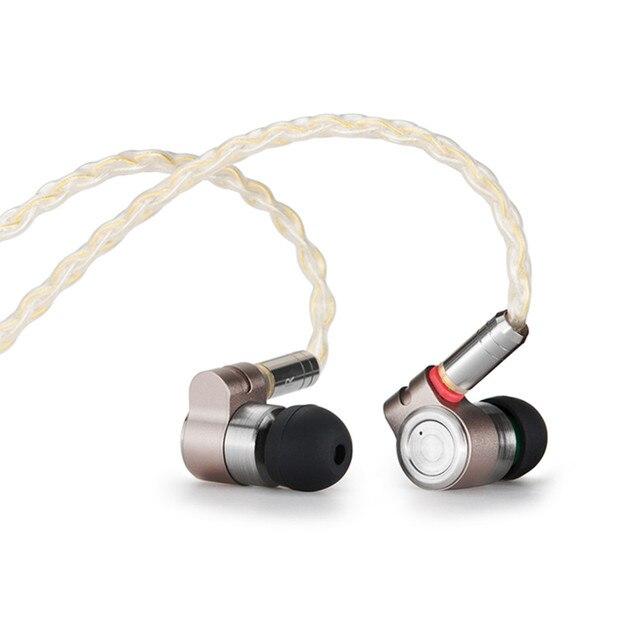 Tinhifi T3 1BA + 1DD HIFI hybrydowy sterownik w uchu słuchawka IEM Monitor słuchawka douszna z pozłacanym OFC SPC kabel MMCX T2 PRO P1