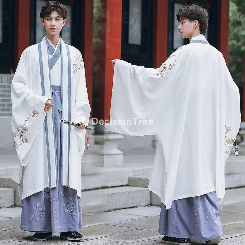 2021 roupas chinesas tradicionais para adultos tang terno palco desempenho antigo traje de espadachim vintage conjuntos hanfu para homens