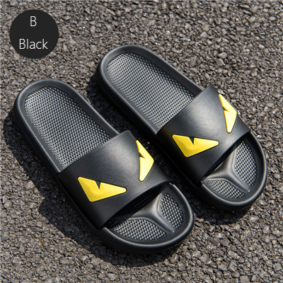 Coslony Men's Slippers Women Massage Devil Men Shoes Eyes Flip Flops Cartoon Male Sandals Two Different Soles Summer Couples Man