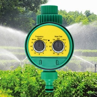 2Pcs Automatic Garden Watering Timer Ball Valve Controller System with Electronic LCD Display Home Garden Irrigation Controller|Garden Water Timers| |  -