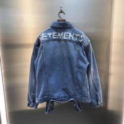 2020SS  Vetements  Jackets 1:1 High Quality Version Vetements Jacket Men Women Vintage VTM Outwear Anarchy Logo Mid Blue Style