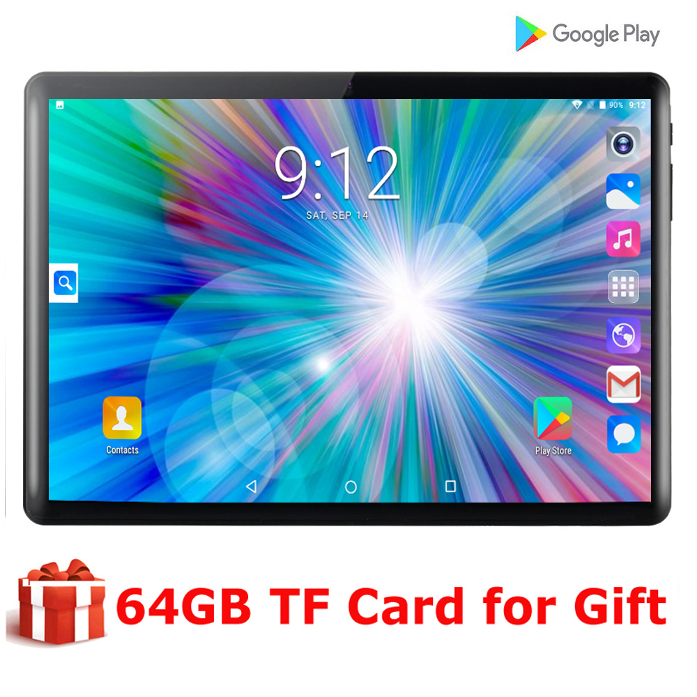 2020 Super Tempered 2.5D Screen 10 Inch Tablet PC Android 9.0 OS Quad Core 2GB RAM 32GB ROM Wifi GPS Tablet With Free Gifts