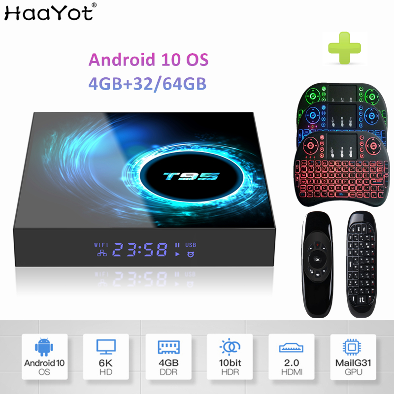 2020 Android 10 TV Box H616 Quad Core 4GB 32GB 64GB 2.4G WiFi Google Play 6K Smart Android Box Media Play Set Top BOX T95