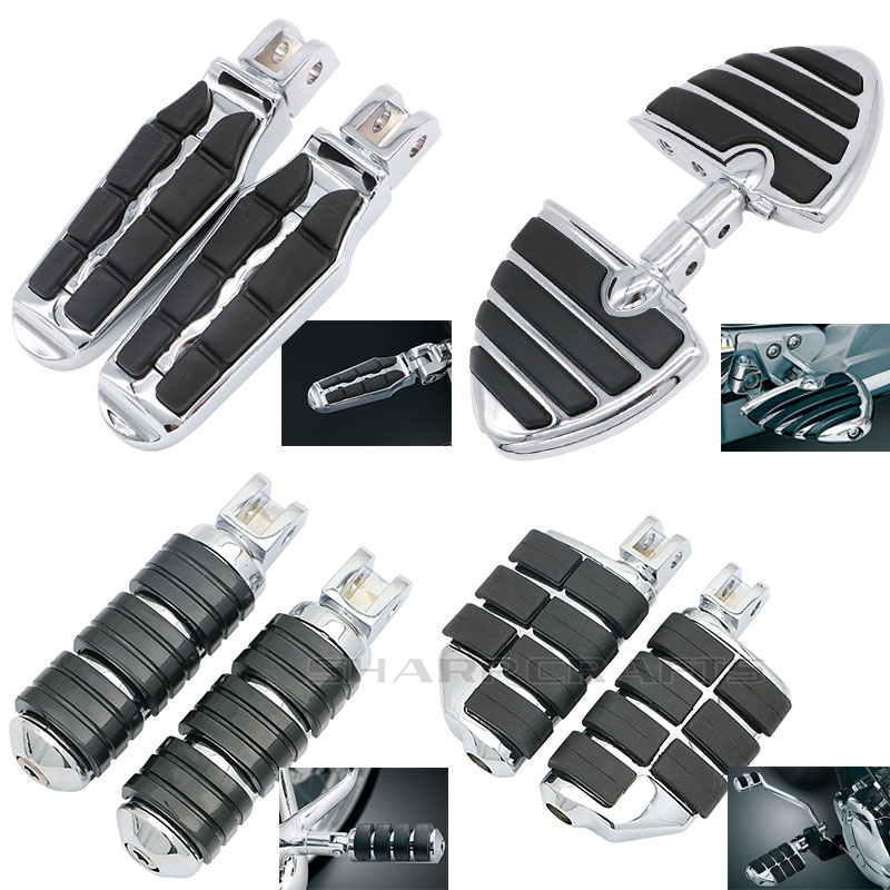 Motorcycle Front Driver Rider Rubber Foot Pegs Footrests Footpegs For Suzuki Boulevard M109R M90 C50 M50 Volusia 800 Footboards