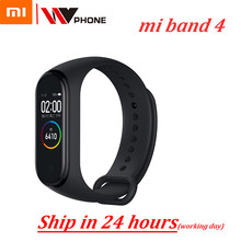 מקורי Xiaomi Mi Band 4 כושר צמיד חכם צמיד MiBand Band 4 Heart Rate בגדול Touch Screen מסר Smartband(China)