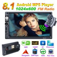 7 Inch Android 8.1 2 Din Car Radio Multimedia Video Player Universal Auto Stereo GPS Navigation Car Mp5 GPS Player