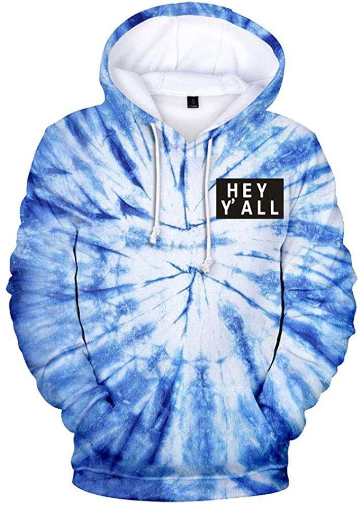 2020 Addison Rae: Hey Y'all Tie Dye 3D Hoodie Men/Women Casual Fashion Long Sleeve Hoodies Sweatshirts Tops Outwear Tracksuit 9