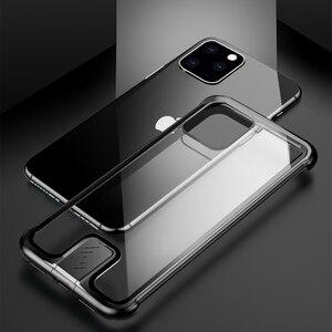 Image 5 - Custodia paraurti in metallo per armatura per iPhone 11 Pro Max custodia Pull Plus in vetro temperato Cover altamente antiurto per iPhone 11 Pro custodia Coque