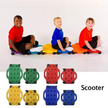 Scooter Board Safety Guard Scooters with Safety Handles for Physical Education Class or Home Use