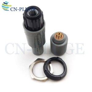 Image 4 - Złącze wtyczka i gniazdo z tworzywa sztucznego 7 pin sprzęt medyczny typu Push pull blokowania M14 PAG/PLG