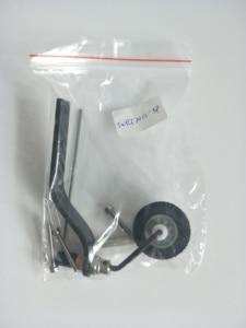 Комплект хвостовых колес из углеродного волокна, зубчатое колесо с губкой для 20cc Gas RC Airplane