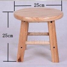 Bar Chair Step-Stool Wood-Bar High Round Solid