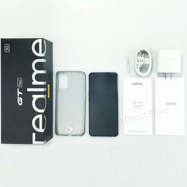 """Realme GT Neo 5G Smartphone 6.43"""" FHD+ 120Hz Super AMOLED Dimensity 1200 Octa Core Android Mobile Phones 50W Fast Charger 64MP 5"""