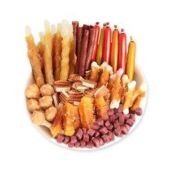 8 rodzajów przekąski dla psów prezenty pakiet z świeże wołowina z kurczaka owoce karmnik dla psa czyste zęby szkolenia nagrody dla małych i dużych psów