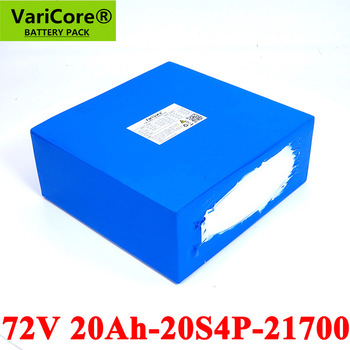 VariCore 74V 20Ah 20S4P 1500W 2500W E-bike battery 21700 72V electric scooter lithium battery with BMS Protection