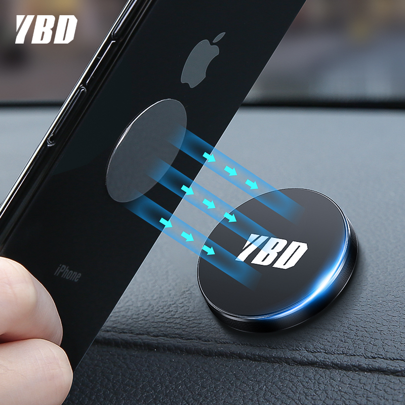 YBD Magnetic Car Phone Holder For IPhone X Samsung Xiaomi Magnet Holder For Phone In Car Mobile Cell Phone Car Holder Stand