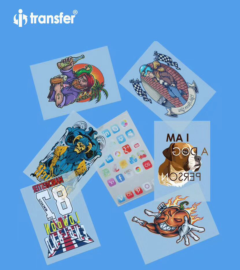 A3 PET Film 100 sheets DTF Garment T shirts Printing Film Textiles Transfer Paper Direct Transfer DTF Films