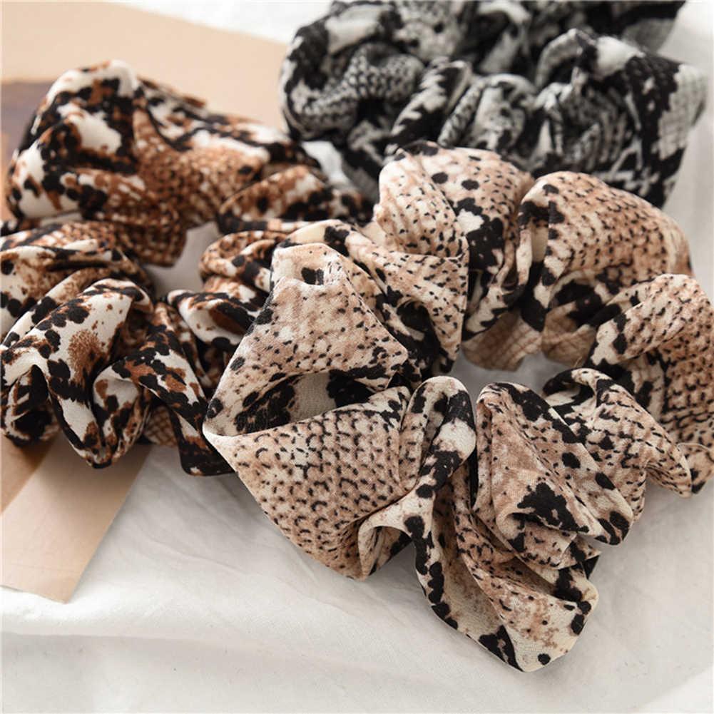 Женские резинки из змеиной кожи/леопардовые эластичные резинки для волос, женские растягивающиеся резинки для конского хвоста, повязка на голову с принтом, аксессуары для волос