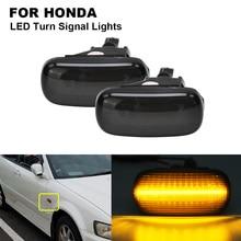 2PCS Amber Smoked Car LED Side Marker Light Lamp For HONDA Accord Civic Fit Jazz Acura RSX City Stream CR-V Odyssey 2001-2005 billet map port plug for honda acura rsx rbc rrc k20 k24 civic k series