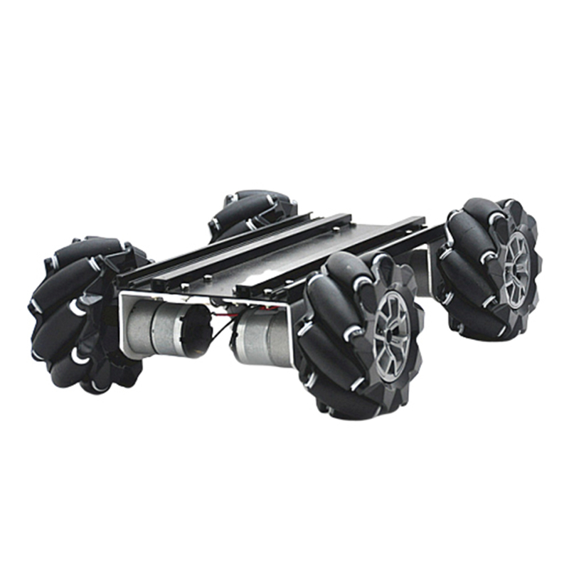 D-45 DIY Smart Metal RC Robot Car Chassis Base With Omni Wheels Compabible With UNO Handmade Educational For Children Toys