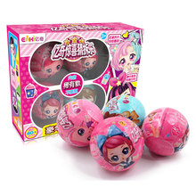 New 4pcs/Eaki Original Surprise Doll Ball Toy Lol Princess Dress Up Dolls Popular Toys Diy Girl Birthday Gift Big Box