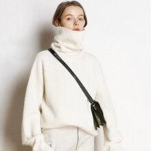 FUNKLOUZ 2019 Autumn Winter Sweater Women Turtleneck Cashmere Knitted Pullover Female Tricot Jersey Jumper Pull Femme