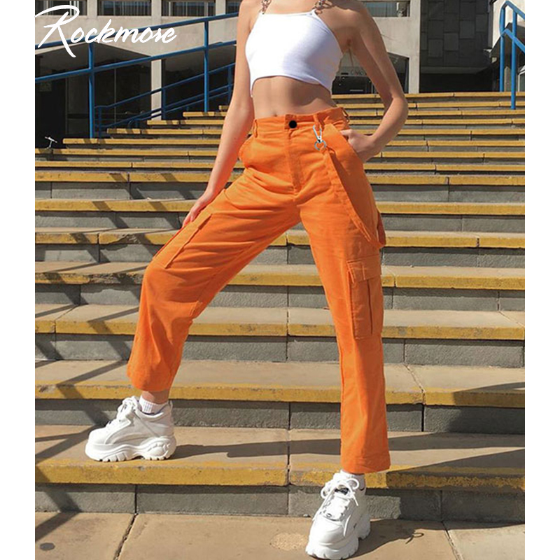 Rockmore Vintage Streetwear Joggers Cargo Pants Women Plus Size Sweatpants Harajuku High Waist Trousers Wide Leg Pants Autumn