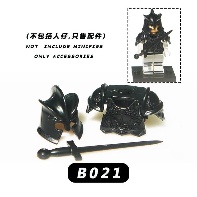 50PCS  military mediaeval times army  weapons shield   for 4cm mini dolls MOC building blocks brick toys for children