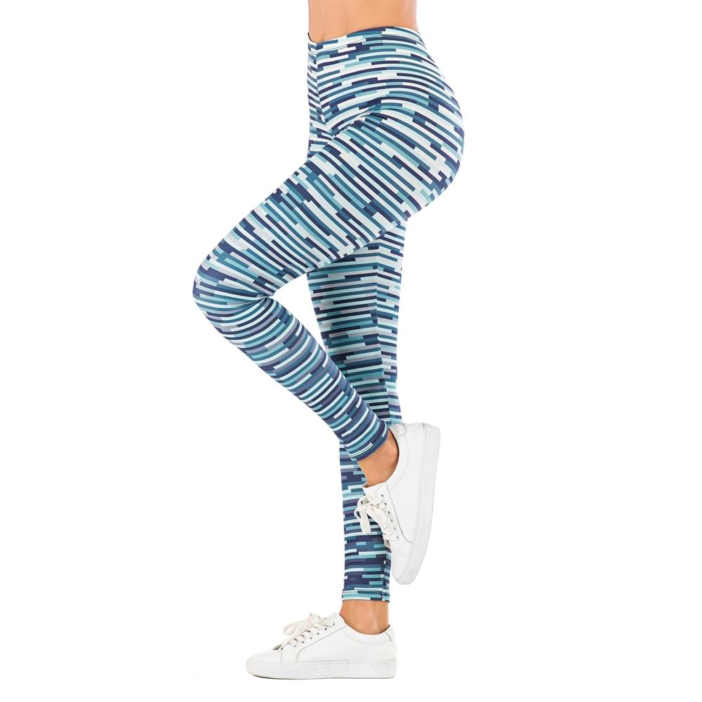 Brand Sexy Women Legging leaf Printing Fitness leggins Fashion Slim legins High Waist Leggings Woman Pants 19