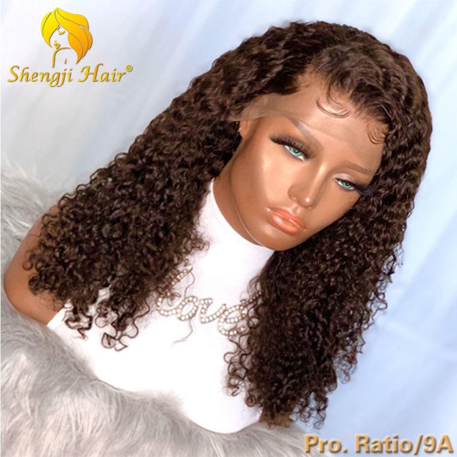 #2 Brazilian Lace Front Wig With Baby Hair 13x6 Curly Lace Front Human Hair Wigs For Black Women 9A 180% Shengji Remy Hair Wig