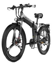 three wheel electric tricycle 8 inch 3 wheels electric bicycles seat max range 50km 48v 500w foldable kick electric scooter Protable Electric Bike 400W 48V Two Wheels Electric Bicycles 21 Speed Mountain ebike Foldable Electric Scooter Removable Battery