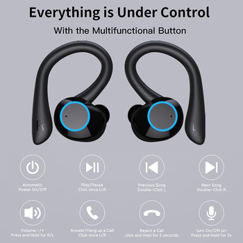 TWS Bluetooth Earphones Touch Control Wireless Headphones with Microphone Sports Waterproof Wireless Earbuds 9D Stereo Headsets 3