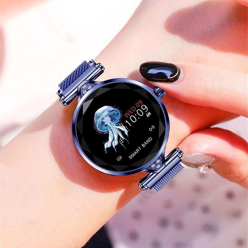 Hd8c0340d80254413b5a3c563e5179ecez 2021 Fashion Smart Watch Women IP68 waterproof Multi-sports modes Pedometer Heart Rate smartwatch Fitness Bracelet for Lady Gift