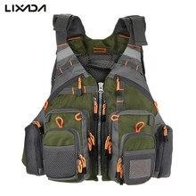 Lixada рыболовный жилет с регулируемой сеткой и карманом для спорта на открытом воздухе, Спасательная куртка для плавания, одежда для рыбалки