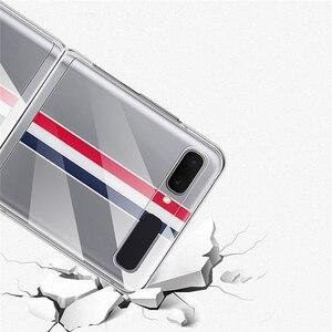 Image 5 - Custodia protettiva per Smartphone per Samsung Galaxy Z Flip accessori per telefoni cellulari custodia rigida antiurto per PC in cristallo trasparente