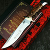 PEGASI  U.S.A(DEHONG )SA78 enhanced hunting straight blade rescue knife camping straight blade Mirror light  tactical knife 1